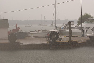 Afternoon rain in the harbour