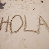 Hola, the first day on the beach in Playa del Carment