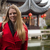 Emily at the Chinese garden in Portland.