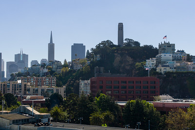 Coit Tower, San Francisco.  View from our balcony