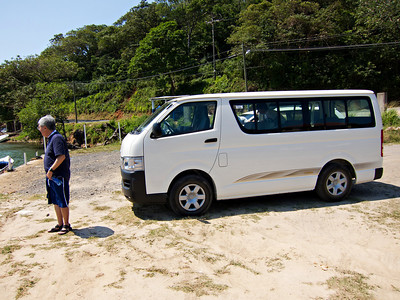 Our tour bus in Roatan