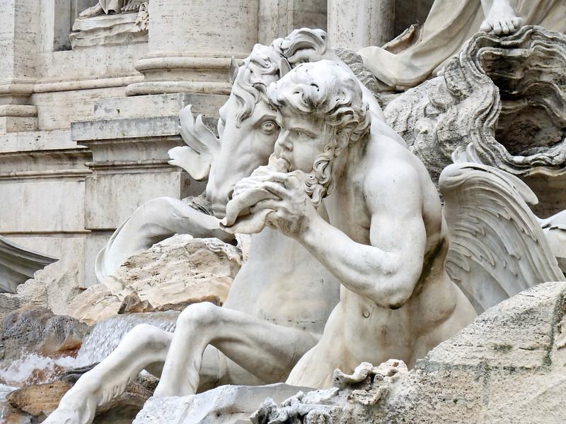 Trevi Fountain detail.