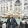Rustem at the Trevi Fountain.