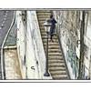 Steps along the Tiber.