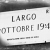 Largo 16 Ottobre 1943, the deportation of Rome's Jewish population. Today, there are approximately 16,000 Jews in Rome.