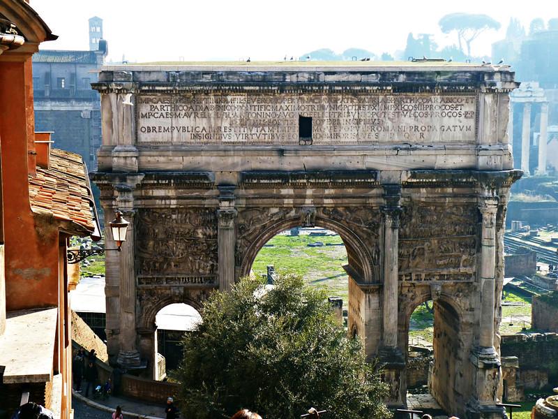 The Arch of Septimius Severus (203 AD).