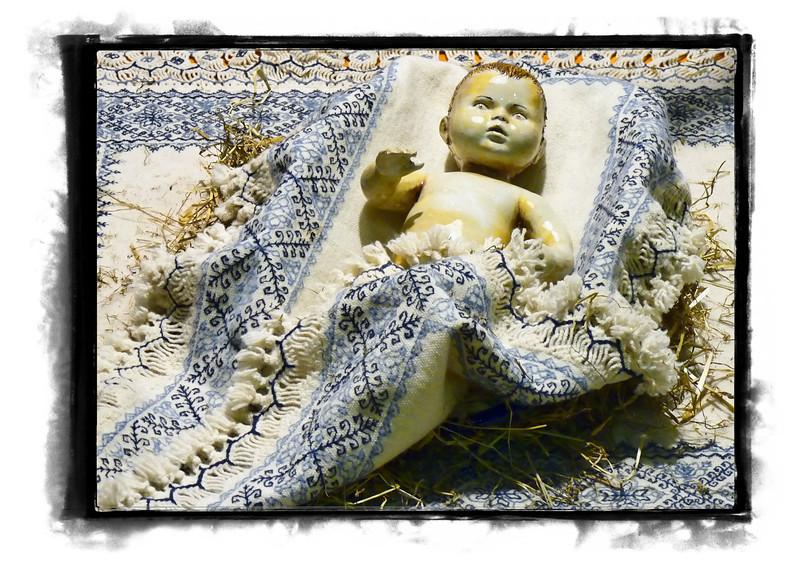 Baby Jesus in the Vatin Museum lobby.