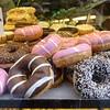 Glazed doughnuts.