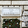 Via dei Condotti where the world's top designers have their salons.