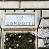 Via dei Condotti where the world's top designers have their salons.