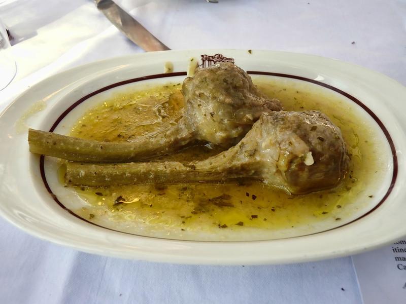 Roman artichokes - delicious!