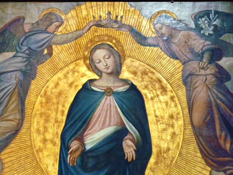 """""""Coronation of the Virgin"""" by Federico Zuccari in the Trinità dei Monti Church."""