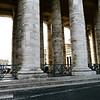 Massive pillars at the Vatican.