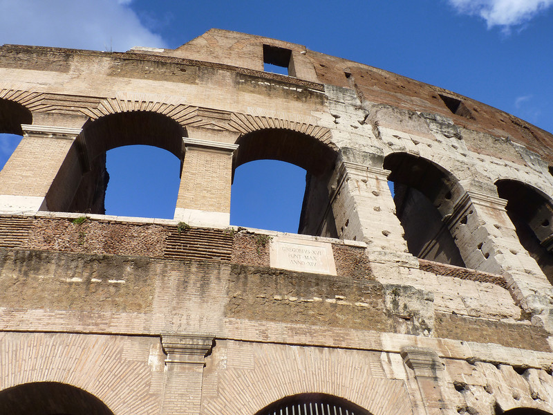 It took less than ten years to complete construction of the Colosseum (80AD). 100,000 prisoners & slaves built the structure.