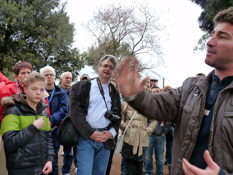 Rustem listening to our guide on Palatine Hill.