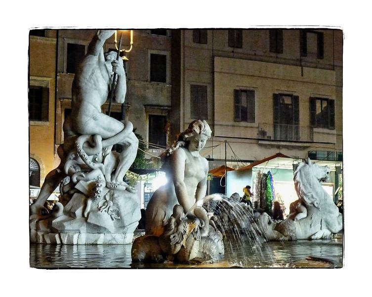 The Fountain of Neptune in Piazza Navona.