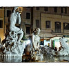 The Fountain of Neptune in Piazza Navona.