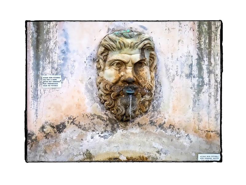Fountain head detail.