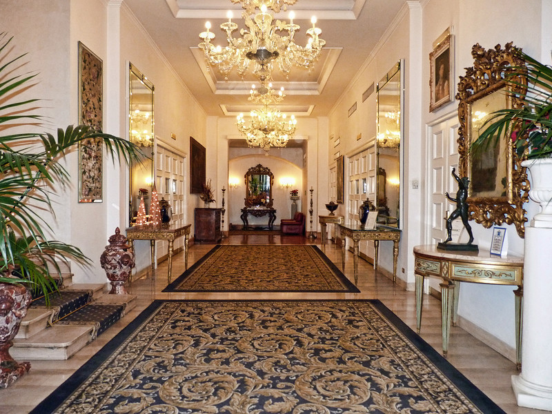 The lobby of the Savoy Hotel.