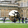 """Sphere Within Sphere"" in the Vatican courtyard, by Italian sculptor Arnoldo Pomodoro. (1990)"