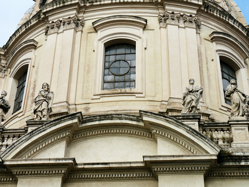 Detail of the 16th Century Church of Santa Maria di Loreto.