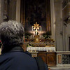 Rustem reflecting in the Basilica of Our Lady in Trastevere.