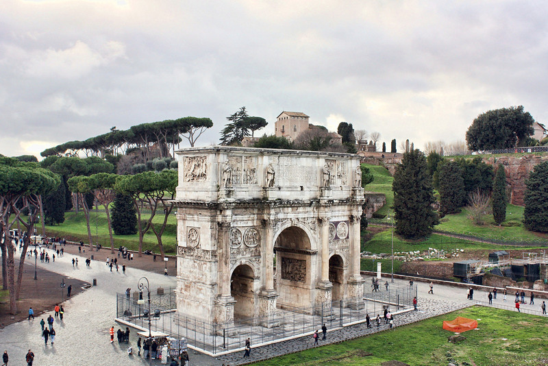 The Arch of Constantine, built in AD 315.