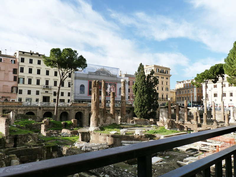 The ruins of Largo di Torre Argentina date from Rome's Republican era, 4th - 2nd centuries BCE. Julius Caesar was assassinated here.