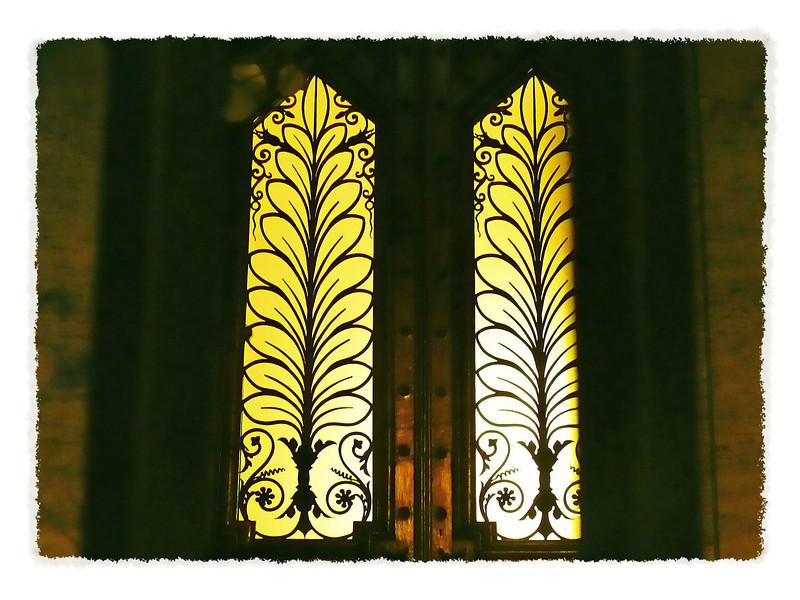 Synagogue doors.