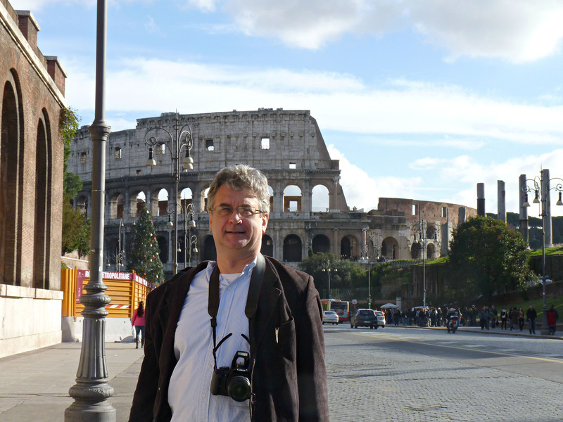 Rustem on the street leading to the Colosseum.