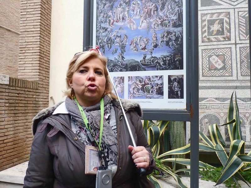 Our Vatican tour guide.