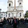 Rustem on the Spanish Steps.