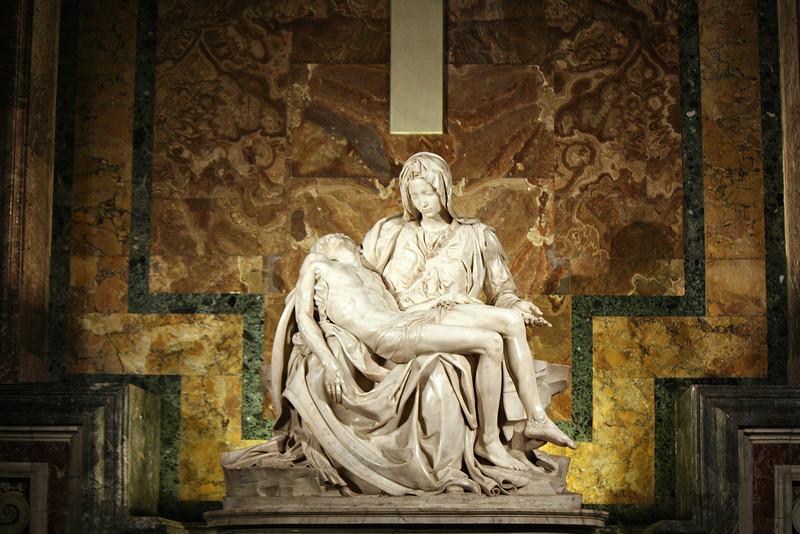 Michelangelo's Pieta (1499).