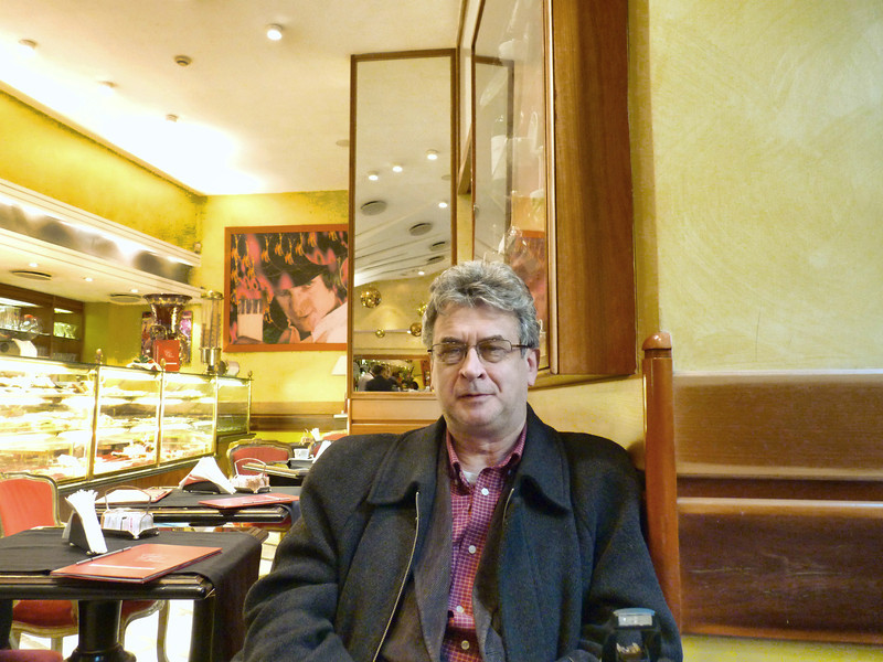 Rustem in the Café de Paris.
