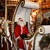Santa on a merry-go-round in Piazza Navona.