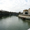The Tiber River bank.