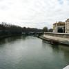 The Tiber River bank.