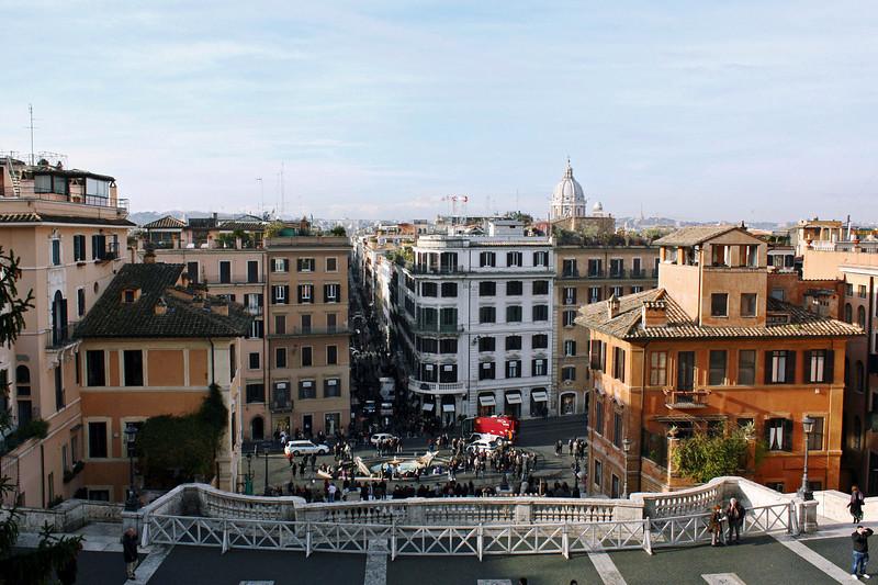 Looking onto the Piazza Trinità dei Monti from the church.