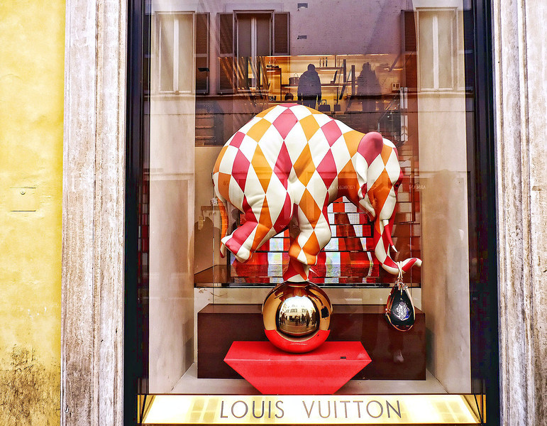 Louis Vuitton window display.