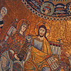 13th century mosaic detail in the Basilica of Our Lady in Trastevere.