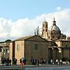 Along the Via dei Fori Imperiali.