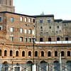 Trajan's market remains. Built between 100-110 AD, this arcade of shops is considered the oldest shopping mall in the world.