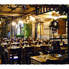 Outdoor restaurant in Trastevere, Rome's Greenwich Village.