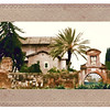 Farnese Gardens wall viewed from Palatine Hill.