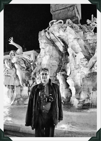 Rustem in front of Bernini's Fountain of the Four Rivers in Piazza Navona.