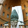 "The ""Pine Cone"", a 1st century Roman bronze sculpture. This was originally a fountain which stood near the Pantheon in ancient times. It's the largest pine cone statue in the world."