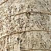 Trajan's Column detail. The column commemorates Emperor Trajan's victories in the Dacian [Romanian] Wars.