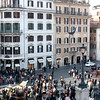 Piazza di Spagna at the bottom of the Spanish Steps.