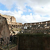 Entering the Colosseum - truly a sight to behold. The Colosseum covers 6 acres.