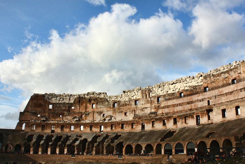 The Colosseum had 80 entrances & could be emptied of spectators in 10 minutes. The entire structure could be covered with a canopy to protect spectators from the sun & heat.
